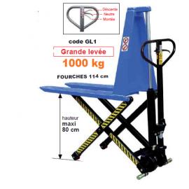 Transpalette grande levée CMU 1000 KGS