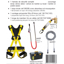 Kit Harnais antichute de sécurité KIT SPECIAL TRAVAUX EN SUSPENSION