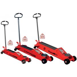 Cric rouleur hydraulique capacité 3 à 12t hauteur