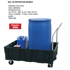 Bac de rétention mobile  250 litres