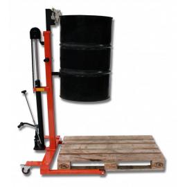 Manutention des fûts métal ou plastique, élévation hydraulique encadrant