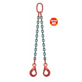 Elingue chaîne avec crochets à verrouillage automatique