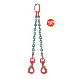 Elingue chaîne avec crochets à émérillon à verrouillage automatique