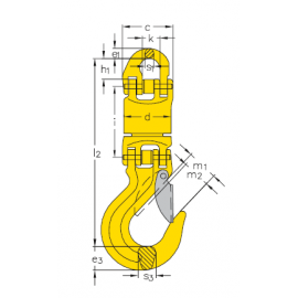 Émerillon isolé sur roulements GUNNEBO 2 à 12.5t