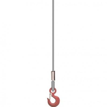 Câble pour treuil avec 1 crochet standard