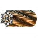 Câble acier galva 7 torons de 19 fils âme métallique