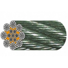 Câble Galva 8 torons de 26 fils rupture élevée