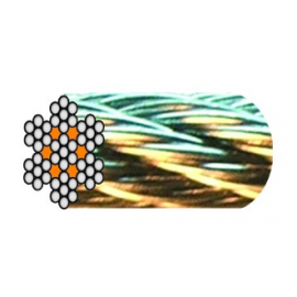 câble acier galva 7 torons de 7 fils âme métallique