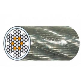 câble acier galvanisé 7 torons de 7 fils gainé PVC