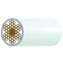 Câble acier inox 7 torons de 7 fils gainé PVC blanc