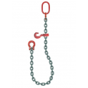 élingue chaîne avec crochet coulissant