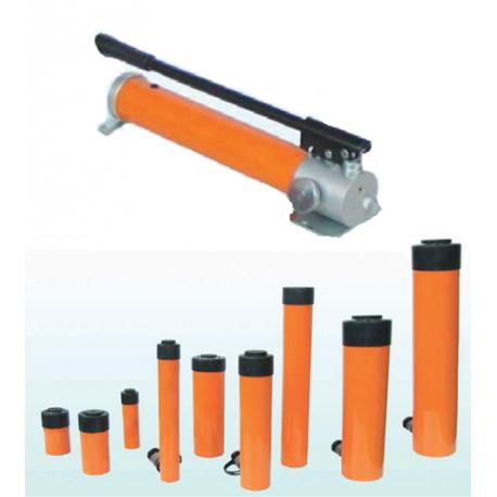 Vérins hydrauliques simple et double effet, pompes