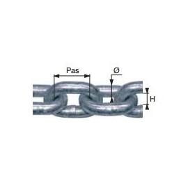 Chaîne métallique calibrée de transmission