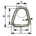 Anneau triangulaire mâle