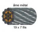 Câbl acier galvanisé antigiratoire 19 torons de 7 fils