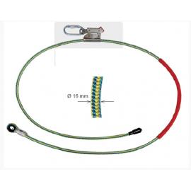 Longe câble acier de maintien au travail réglable EN358