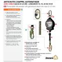 Stop chûte à enrouleur à câble