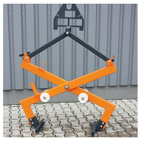 Pince mécanique pour paquets de matériaux