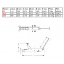 Cric rouleur hydraulique haute capacité 6 à 20t