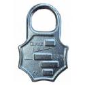 Plaque d'identification en acier forgé