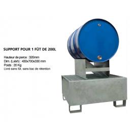 Support pour 1 fût acier 200 litres