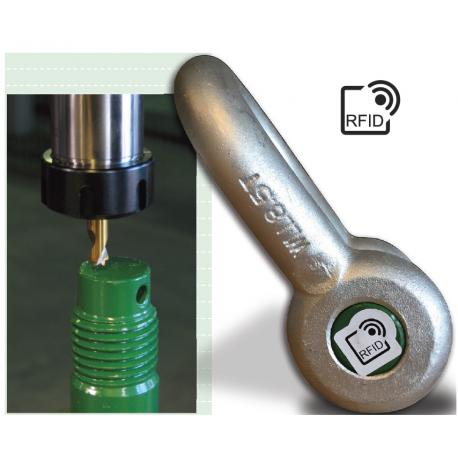 MANILLES lyres et droites ave boulonné goupillé Green Pin lecture RFID +17 tonnes