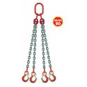 Elingue chaîne avec crochets à linguet