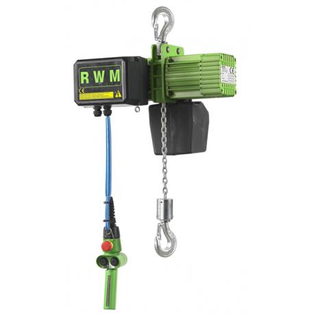 Palan électrique RWM à chaîne 125kg à 4 tonnes 400V tri