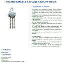 Palan manuel à chaine Inox 316L Yalelift de 0.5 à 12 tonnes
