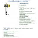 Palan électrique YALE CPV à chaîne 250kg à 2 tonnes 400V tri