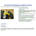 Palan électrique W à chaîne 2.5 à 5 tonnes 400V tri