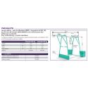 Chevalet pour treuil électrique de levage de chantier G500 42m 230V Mono