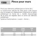 Pinces pour murs  béton en L EICHINGER de 1 & 3 tonnes