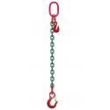 Elingue chaîne réglable avec crochets à linguet