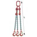 Elingue chaîne réglable avec crochets à linguets