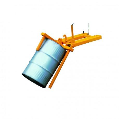 Retourneur de fûts métalliques pour chariot élévateur