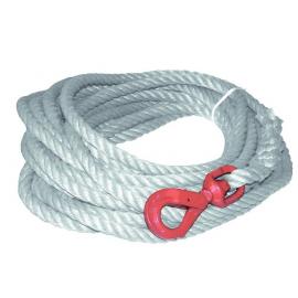 Corde à poulie avec crochet tournant