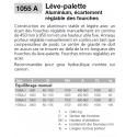 Lève-palettes Alu réglables 1055A à équilibrage manuel