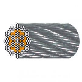 Câble acier galva ANTIGIRATOIRE 19 torons de 7 fils