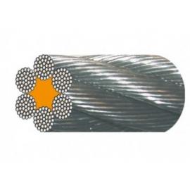 Câble acier galva 6 torons de 37 fils âme textile de 8 à 28 mm