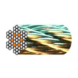 câble acier galva 7 torons de 7 fils âme métallique de 1 à 6 mm