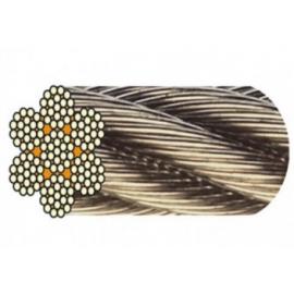 Câble acier inox 7 torons de 19 fils