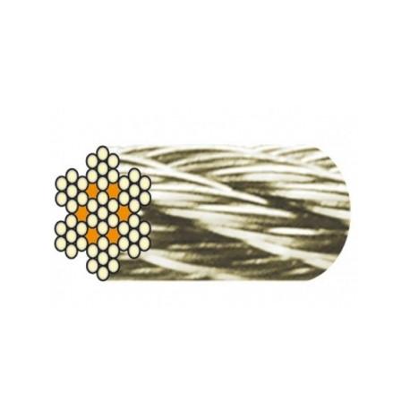 Câble acier inox 7 torons de 7 fils âme métallique