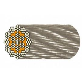 Câble inox antigiratoire 18 torons de 7 fils