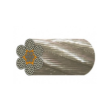 Câble inox 6 torons de 36 fils