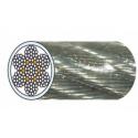 Câble acier galva 7 torons de 19 fils gainé PVC