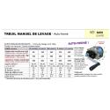 TREUIL MANUEL de levage (et halage) Auto-freiné
