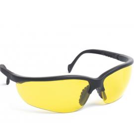 Lunettes de protection branches réglables, avec oculaires teintés jaune