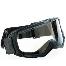 Lunettes masque avec bordure mousse et écran incolore antibuée.