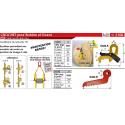 Crochet DL à sécurité pour bobine et touret